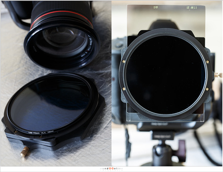 The Lee Landscape Polarizer is a 105mm big filter that goes in front of the filter holder. The polarization filter cannot be used without the filter holder. Placing the filter on the filterring was tricky and I had to be careful, always.