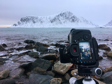 Photographing at a famous beach at Lofoten. Working with the Kase filter system was lots of fun, easy and the results were perfect.