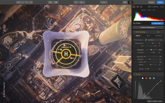 Luminar Flex editing software screenshot