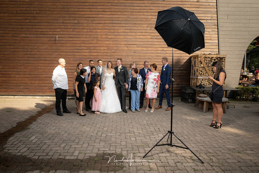 Using the Godox on location, as a fill in light during a wedding. It worked perfectly and the battery power was amazing.