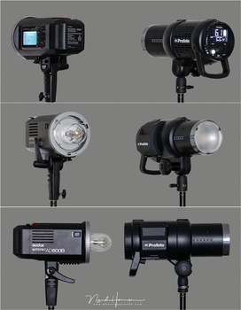 The Godox AD600 next to the Profoto A1. Two comparible flashes that work perfectly. The Godox is relatively cheap, the Profoto is very expensive. Both have their strengths and their weaknesses.