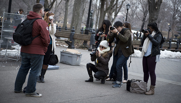 I would often take my students out to Central Park for lighting lessons. Students have told me that they didn't know they wanted to go into photojournalism until being exposed to it in my classes.