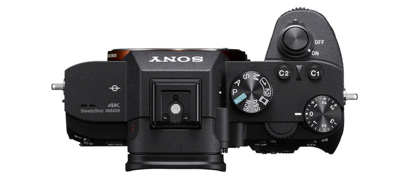 The Sony a7 III top deck