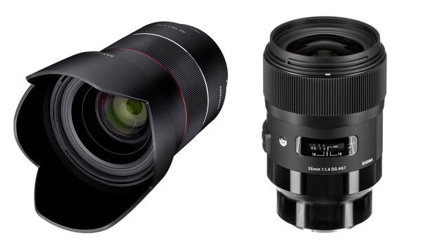 Samyang and Sigma 35mm f/1.4 lenses