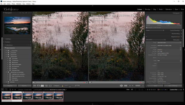 You can see the difference between a single shot and the stacked image. Details are still visible
