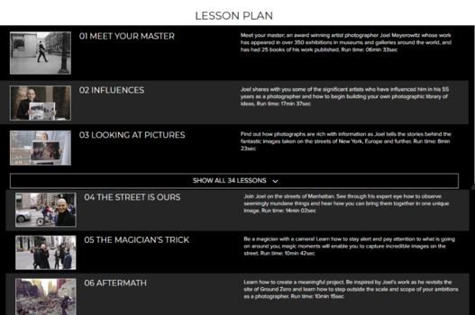 masters of photography lesson plan