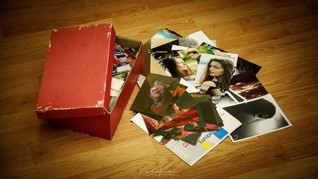 After the first few photo albums, a lot of photos ended up in a shoe box, just waiting to be selected for a page in an album.