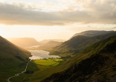 Buttermere Sunset, Lake District, UK