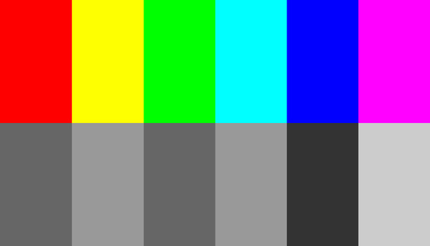Colors have not much to do with brightness. This can be seen when colors are converted to black and white. Just look at the color red, it has the same brightness as the color green. Also yellow and cyan have the same brightness.