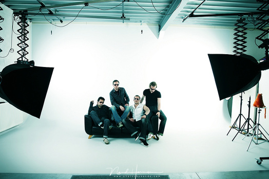 I shot the Dutch rock band Hangover Hero in a large studio with use of softboxes. With this the light can be shaped just the way you like.