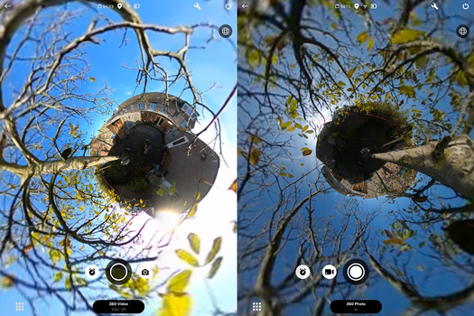 When switching over to photography, you can see the difference in dynamic range. The GoPro MAX is better for film.