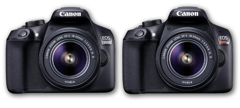 Canon Rebel T6 and 1300D