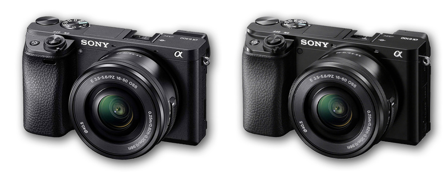 Sony a6300 and a6100