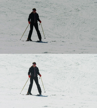 Camera underexposing a scene in a bright snowy day