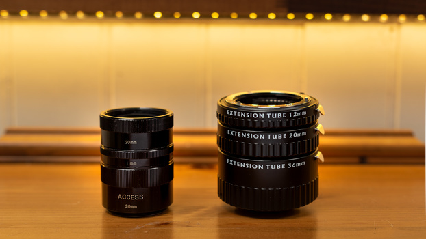 Two types of extension tubes