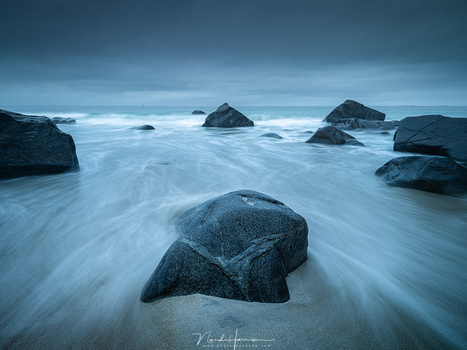 Waves at Myrland (23mm, ISO100, f/11, 2,5s, Haida CPL/ND16, from tripod)