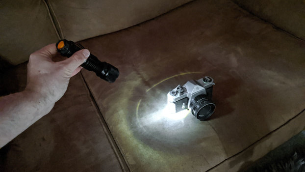 Experiment with the flashlight position