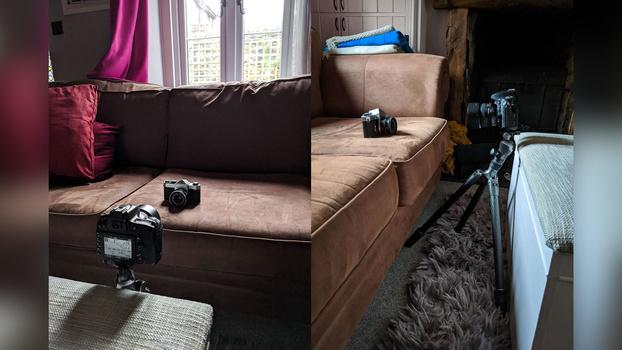 Set up your photoshoot scene