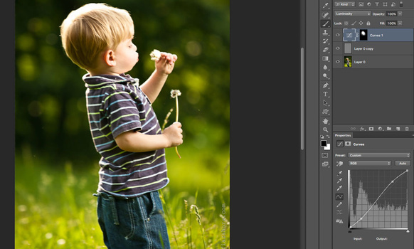 Using high contrast selectively to sharpen image