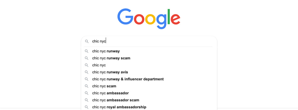 Google search results autocomplete