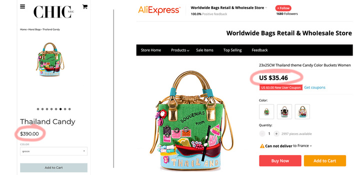 Thailand Candy handbag price comparison