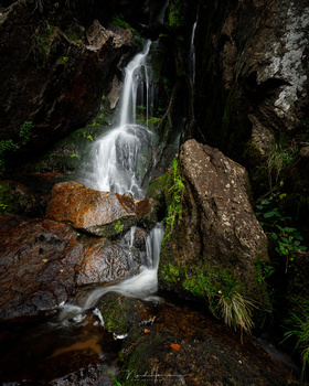 Four images are used in this vertical panorama, with the camera in horizontal position. The location was too tight to get the waterfal captured in one image. (EOS 5Dmk4 + TS-E 24L II, ISO100, f/11, 1s, Kase CPL filter)
