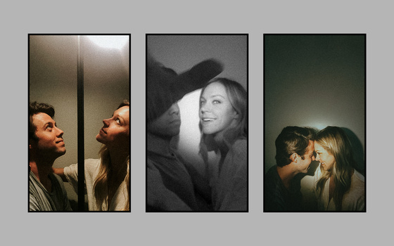 A triptych of a couple.
