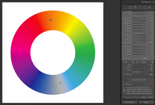 Color Wheel, Amount 0%