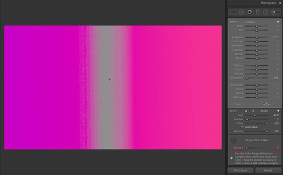 Pink, Amount at 0%