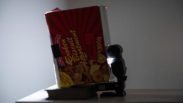 Soft box made from a cardboard box