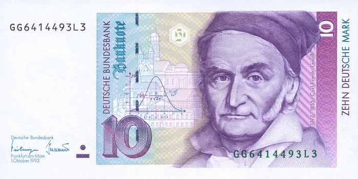 10 Deutsche Mark note
