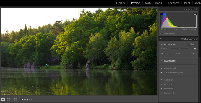 More profiles to choose from in Lightroom