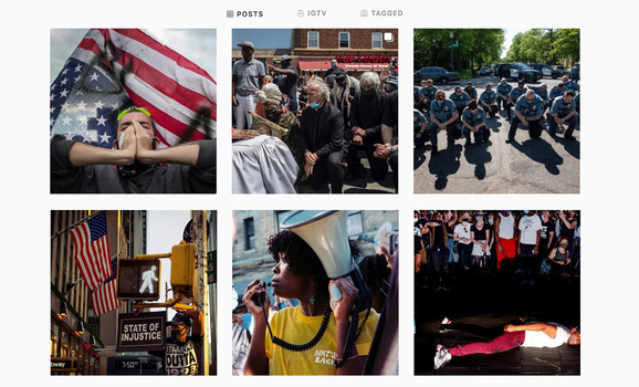 The first six posts on National Geographic's Instagram feed