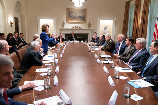 Craighead's October 2019 photo of Nancy Pelosi engaged in a heated exchange with President Trump.