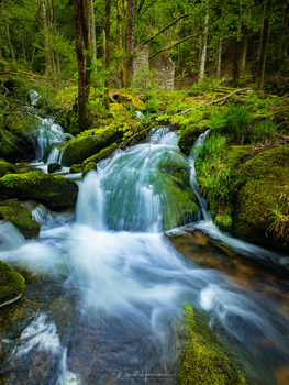 With shutter speeds that are very long, these streams will loose all details. You don't need an extreme dark neutral density filter in these situations.