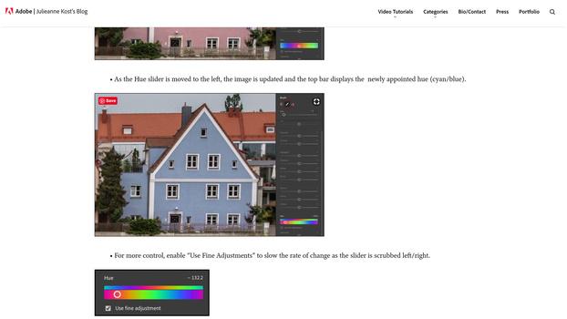 Local hue control blog post screenshot