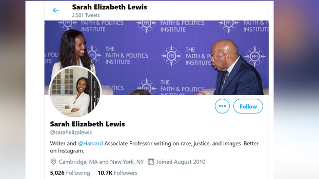 Sarah Lewis screenshot of her twitter