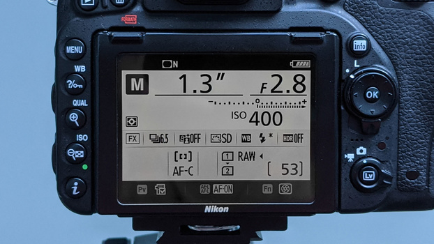 Camera settings for comet astrophotography