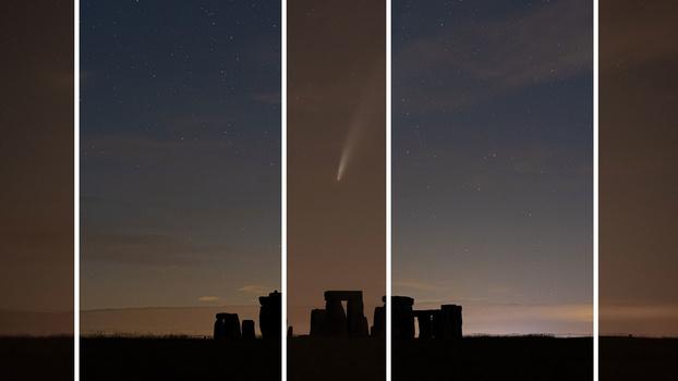 Comet white balance example