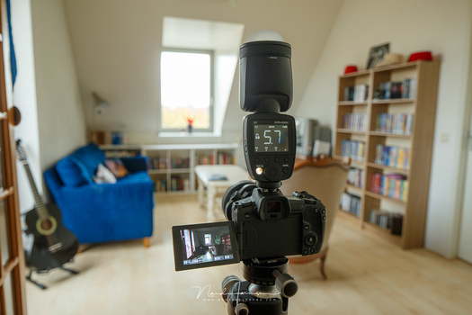 For shooting real estate it is important to have everything in focus. If your lens fails, and the images aren't sharp, you should use another lens. Make the investment, and don't try to fix this at home.