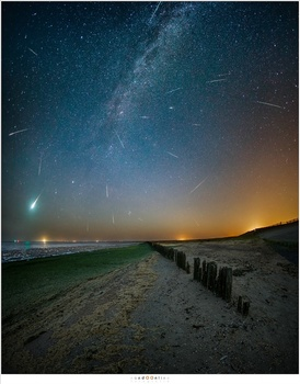 Shooting the Perseid Meteor Shower in 2016 at the Wadden Sea in the Netherlands, one of the darkest locations in the Netherlands.