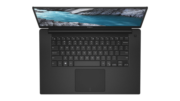Dell XPS 15 trackpad top view