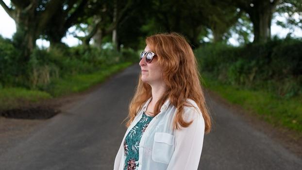 50mm headshot portrait under trees