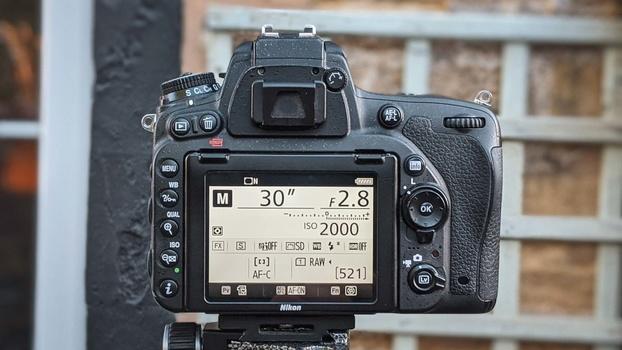 Maximum aperture on lens