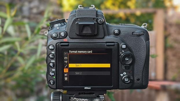 Format memory card in camera