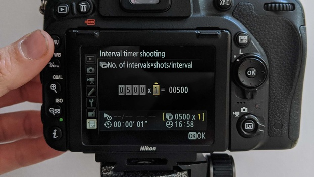 Interval timer shooting control