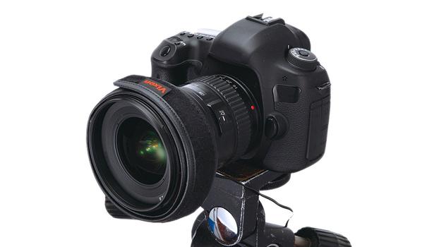 Lens warmer on lens