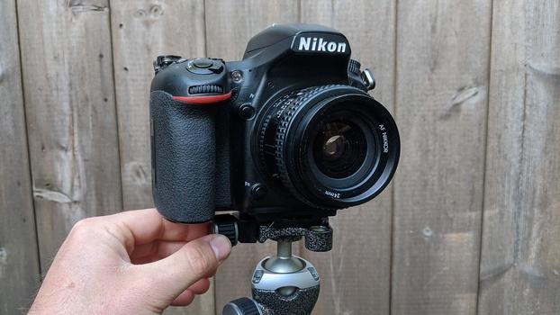 Wide angle lens on camera
