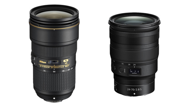 Two Nikon lenses side by side