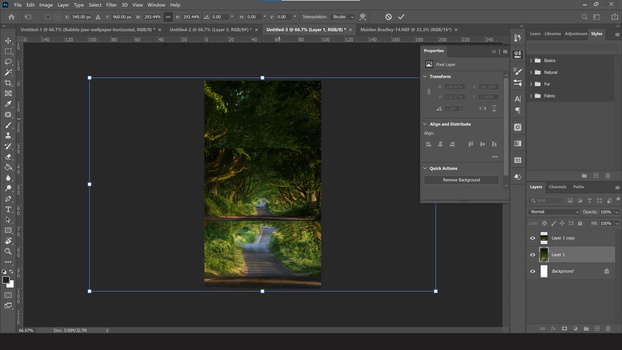 Duplicate the photo layer in photoshop cc